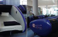بالصور | في مطار اسطنبول...كبائن نوم بخدمة المسافرين لأخد قسط من الراحة أثناء انتظار موعد رحلتهم